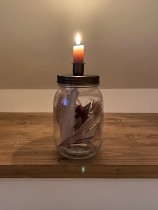 Candle jar round